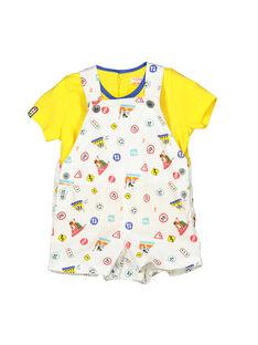 Completo salopette e t-shirt neonato FUCOENS / 19SG1081ENS000