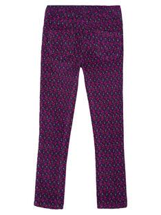 Pantaloni jeggings in velluto con stampa GAVIOPANT / 19W901R1PAN708