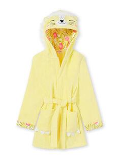 Accappatoio con cappuccio giallo e rosa bambina LEFAROBLEO / 21SH1151RDC116