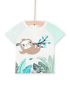 T-shirt ecrù neonato LUVERTI2 / 21SG10Q2TMC001