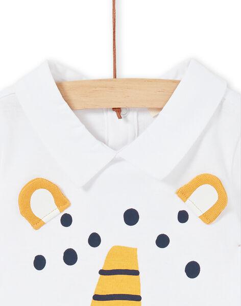 Body bianco in cotone neonato LUBALBOD / 21SG10O1BOD000