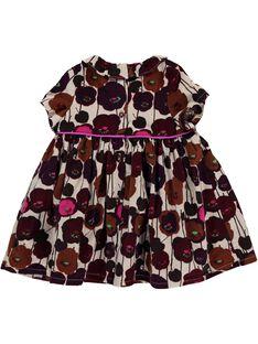 Baby girls' velour dress DICHOROB4 / 18WG09F2ROB099