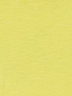 T-shirt gialla in cotone bambino LOJOTI5 / 21S90234TMCB102