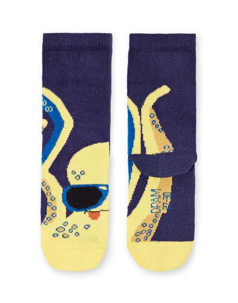 Calze blu e gialle bambino LYONAUCHO2 / 21SI02P2SOQ070