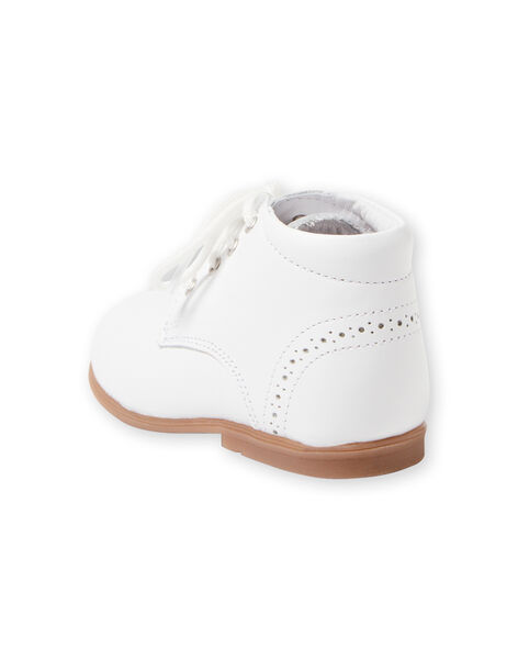 Stivaletti bianchi neonato LBGBOTIESSB / 21KK3831D0F000