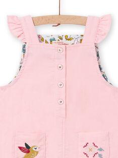 Abito salopette in velluto a costine rosa neonata MIKAROB2 / 21WG09I2ROBD316