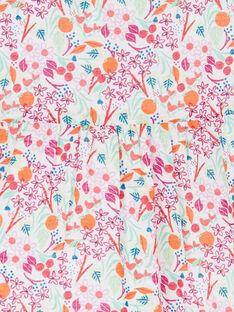Blusa rosa e arancione stampa a fiori neonata LIVICHEM / 21SG09U1BLU000