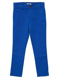Pantaloni chino bambino cobalto JOJOPACHI5 / 20S90241D2B703