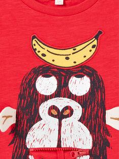 T-shirt rossa e gialla bambino LOVITI3 / 21S902U3TMC505