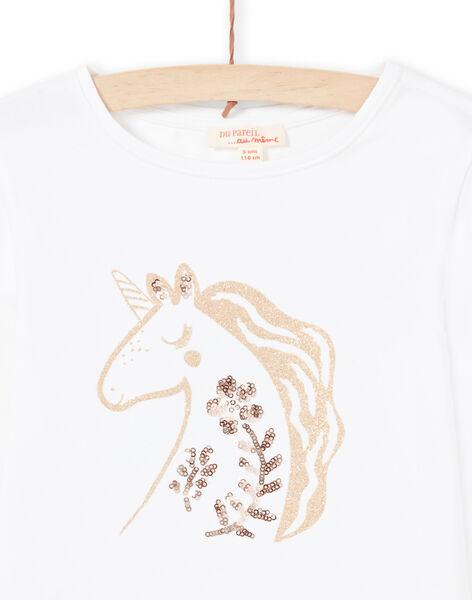 T-shirt ecrù bambina MAJOYTEE3 / 21W90111TML001