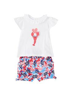 Completo shorts e t-shirt neonata JICEAENS / 20SG09N3ENS000
