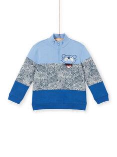 Felpa colorblock blu lavanda bambino LOBLESWE / 21S902J1SWEC208
