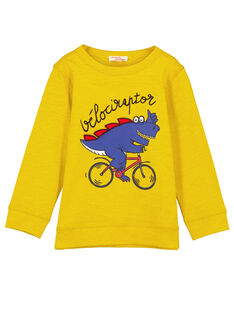T-shirt pesante Gialla Maniche lunghe GOJAUTEE2 / 19W902H1TML109