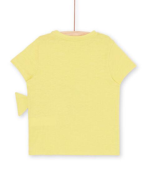 T-shirt gialla con motivo 3D - Bambino LONAUTI2 / 21S902P3TMCB102