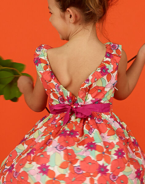 Abito senza maniche con stampa a fiori bambina LAVIROB1 / 21S901U1ROB000