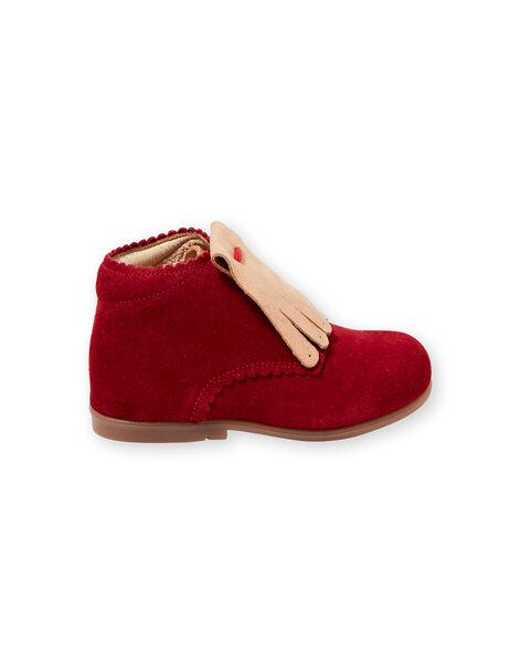 Stivaletti rossi neonata GBFBOTIPATR / 19WK37I6D0F050