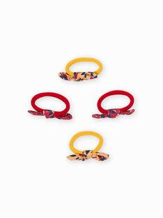 Set 4 elastici abbinati fiocchi bambina MYAJOELA3 / 21WI01S6ELAB106
