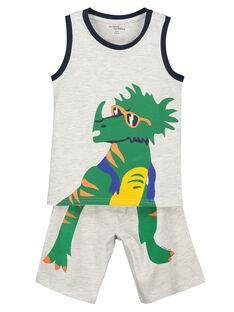 Pigiama corto bambino dinosauro FEGOPYCTRI / 19SH12H5PYJJ906