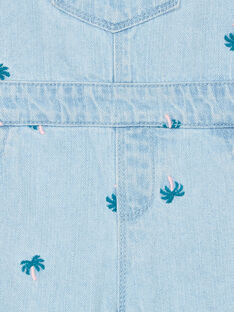 Salopette in jeans celeste stampa palma LAVERSAC / 21S901Q1SACP272
