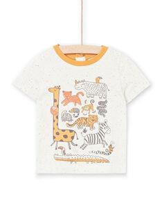 T-shirt ecrù melange neonato LUTERTI2 / 21SG10V4TMC006