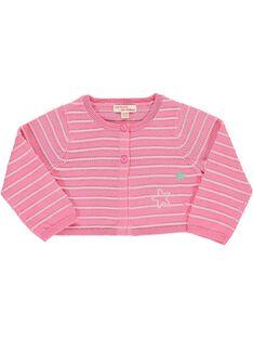 Baby girls' cropped cardigan CIMACAR / 18SG09U1CAR313