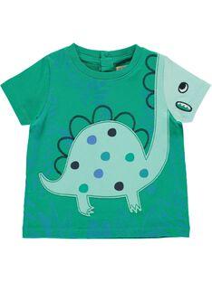 Baby boys' short-sleeved T-shirt CUDOUTI3 / 18SG10J3TMC613