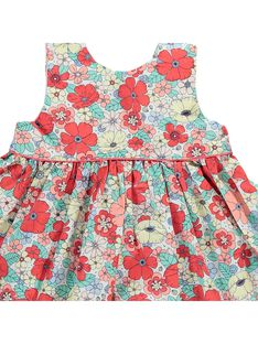 Baby girls' wrapover dress CIBUROB1 / 18SG09K2ROB099