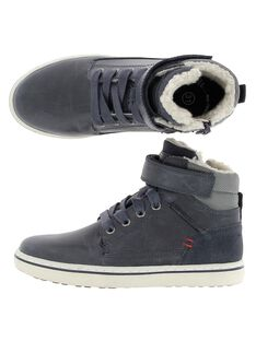 Boys' fur lined trainers DGBASGI / 18WK36TGD3F070