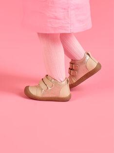Stivaletti rosa chiaro in pelle neonata MIBOTIFLEXFI / 21XK3751D0F030