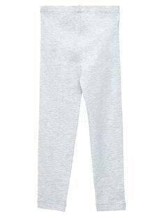 Leggings bambina grigio chiaro JYAESLEG4 / 20SI0164D26943