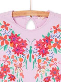 T-shirt rosa e verde LAVITI1 / 21S901U2TMCH700