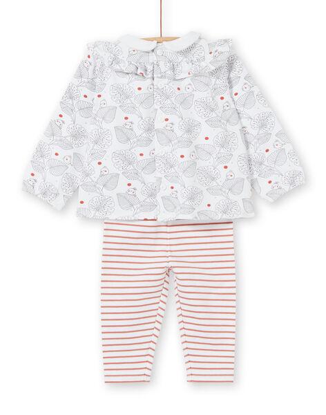 Completo blusa con volant e leggings neonata LOU1ENS2 / 21SF03H1ENS000