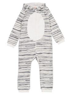 Tutina sacco nanna zebra in soft boa bambina GEFASURZEB / 19WH11N1D4F001