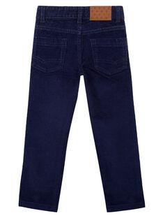 Pantaloni in velluto Navy Regular GOJOPAVEL1 / 19W90232D2B070
