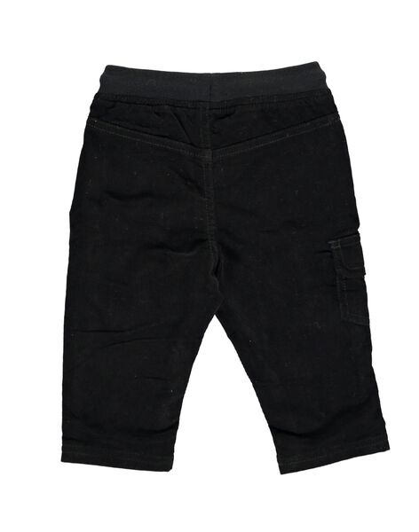 Baby boys' black velour trousers DUJOPAN1 / 18WG1031PAN090