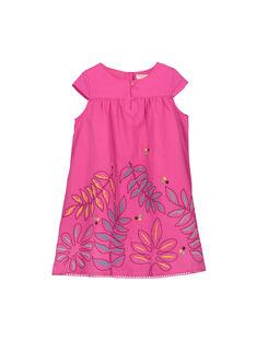 Abito in cotone rosa bambina FATUROB2 / 19S901F5ROB712