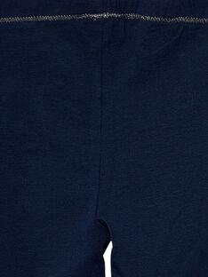 Leggings bambina navy JYAESLEG2 / 20SI0163D26070