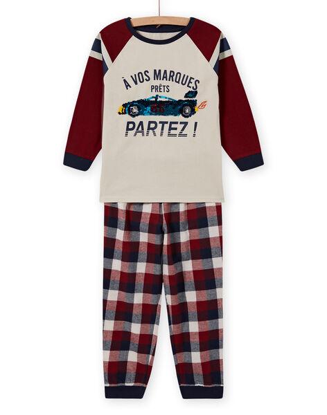 Completo pigiama con motivo auto in paillettes double face bambino MEGOPYJSPOR / 21WH1232PYJ080