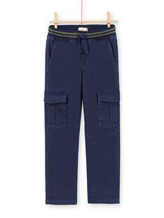 Pantaloni blu scuro bambino MOJOPAMAT1 / 21W90228PAN705