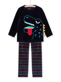 Completo pigiama con motivo dinosauro fosforescente bambino MEGOPYJDIN / 21WH1293PYJ705