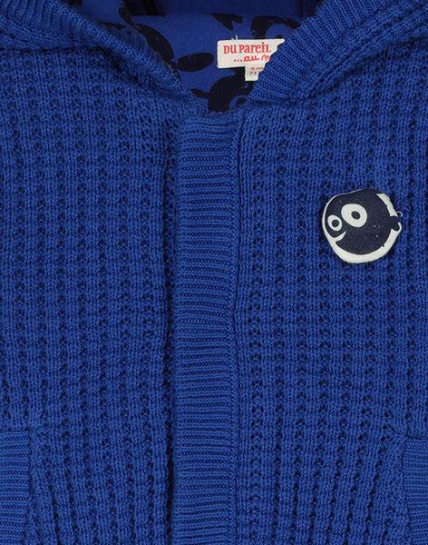 Cardigan con cappuccio neonato FUGROVES1 / 19SG10X1VES703