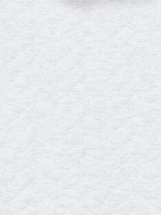 Tuta grigio melange con tasca leopardo 3D neonato unisex LOU1COM / 21SF05H1CBLJ920