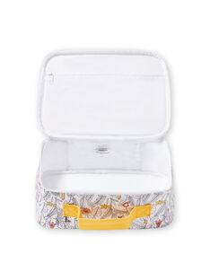 Valigia bianca e gialla stampa giungla nascita LOU1VALI / 21SF42H1VAL000