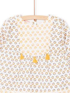 Blusa bianca e gialla stampa a fiori LAPOECHEM / 21S901Y1CHE001