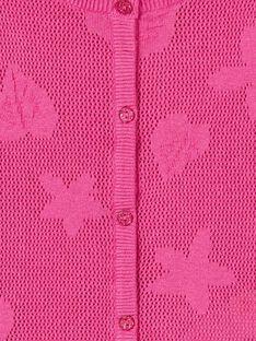 Cardigan maniche lunghe, lavorazione fantasia traforata e motivo foglia e fiori LAVICAR / 21S901U1CAR304