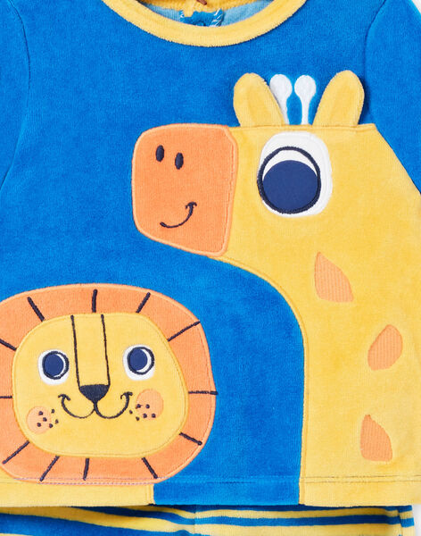 Pigiama corredo bambino in velluto motivo leone e giraffa LEFUPYJAMI / 21SH1411PYJC209