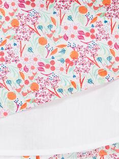 Abito e bloomer rosa e arancione stampa a fiori neonata LIVIROB2 / 21SG09U2ROB000