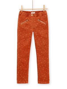 Light brown PANTS KAGOPANT / 20W901L1PAN420