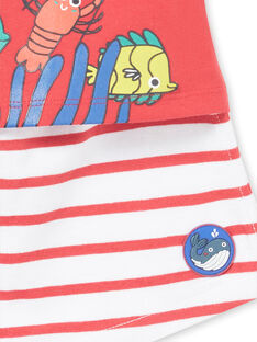 Completo t-shirt e shorts rossi neonato LUVIENS / 21SG10U1ENSF515