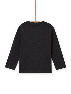 T-shirt a maniche lunghe grigio melange e motivo aquila bambino MOSAUTEE2 / 21W902P4TML944